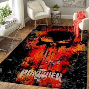 Punisher Area Rugs / Movie Living Room Carpet, Custom Floor Decor 3010193