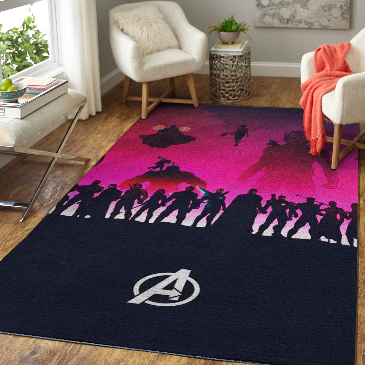 Avengers Area Rugs / Marvel Superhero Movie Living Room Carpet, Custom Floor Decor