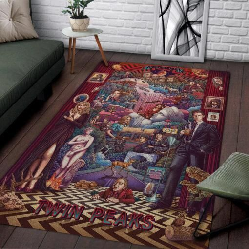 Twin Peaks Area Rugs, Movie Living Room Carpet, Custom Floor Decor 031110