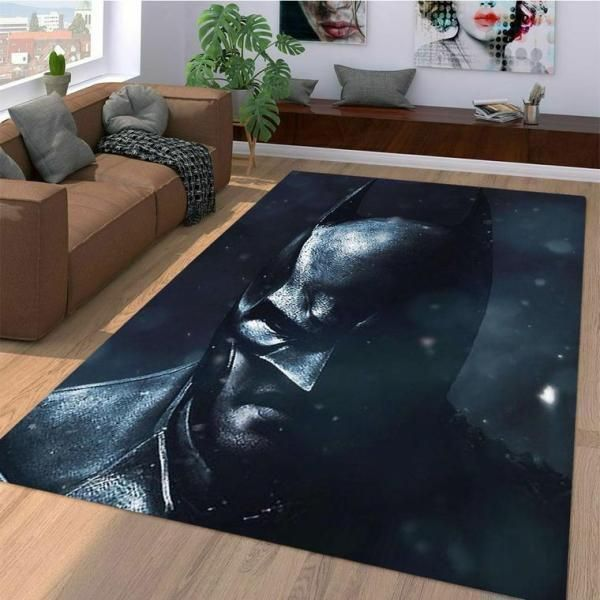 Batman Area Rugs, Superhero Movie Living Room Carpet, Custom Floor Decor 10118