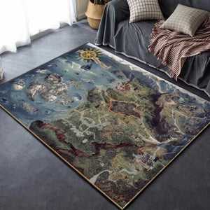 The Witcher III Map Area Rugs / Movie Living Room Rugs, Custom Carpet Floor Home Decor 021111