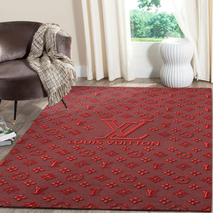 Louis Vuitton Area Rug Hypebeast Carpet, Luxurious Fashion Brand Logo Living Room  Rugs, Floor Decor 081124