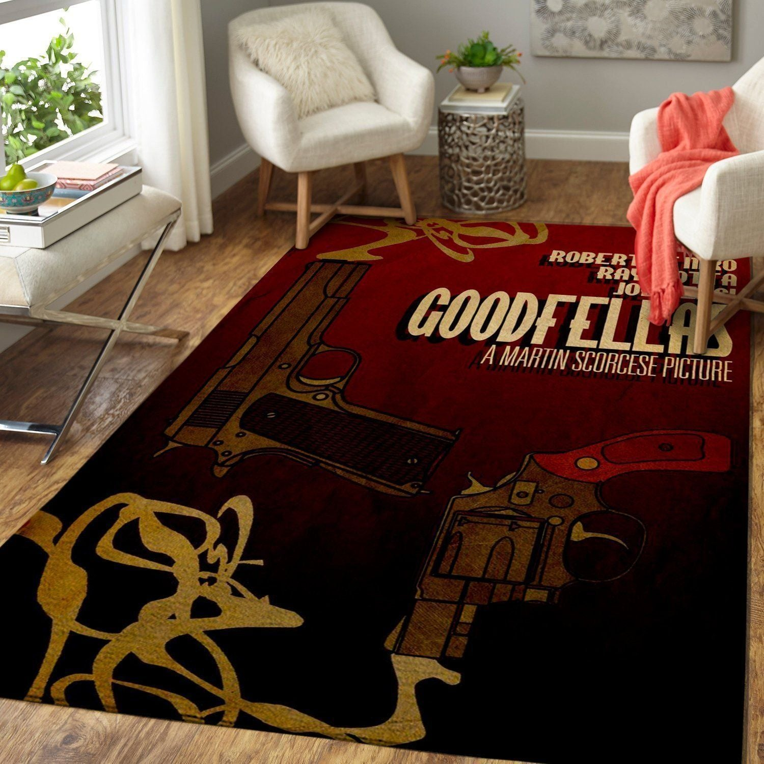 Goodfellas Area Rugs / Movie Living Room Carpet, Custom Floor Decor 04114