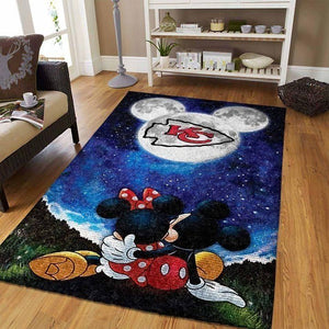Kansas City Chiefs Area Rug, NFL Football Team Logo Carpet, Living Room Rugs Floor Decor 03112