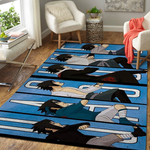 Sasuke Uchiha Area Rugs, Anime, Manga Living Room Carpet, Custom Floor Decor 1