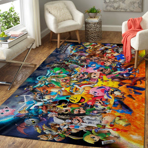 Super Smash Bros. Area Rug Nintendo Video Game Carpet, Gamer Living Room Rugs, Floor Decor 1910131