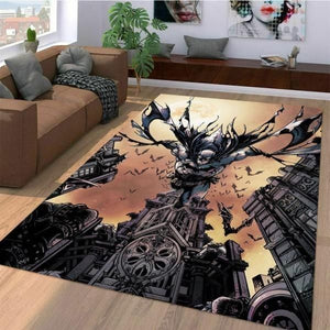 Batman Area Rugs, Superhero Movie Living Room Carpet, Custom Floor Decor 10113