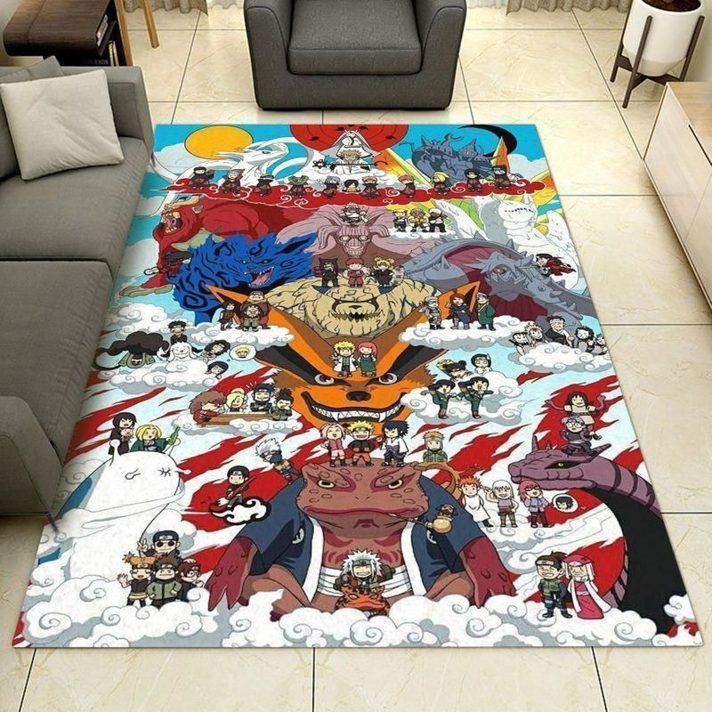 Naruto Area Rugs, Anime, Manga Living Room Carpet, Custom Floor Decor 0211