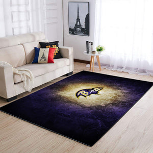 Baltimore Ravens Area Rug, NFL Football Team Logo Carpet, Living Room Rugs Floor Decor 1910071
