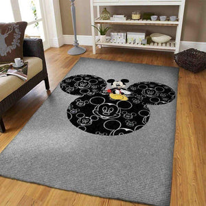 Mickey Mouse Area Rugs, Disney Movie Living Room Carpet, Custom Floor Decor M30107