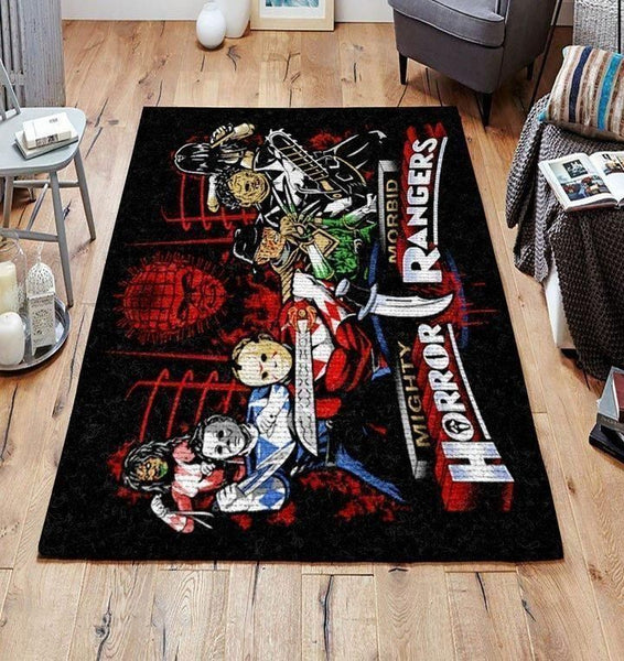 Horror Rangers 190908 Area Rugs Living Room Carpet, Custom Floor Decor