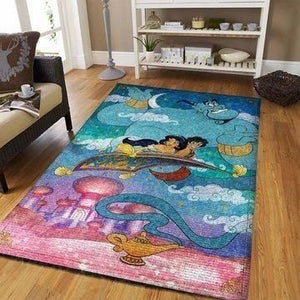 Disney Aladdin Area Rugs / Movie Living Room Carpet, Custom Floor Decor A31101