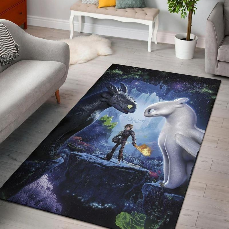 How To Train Your Dragon Area Rugs, Movie Living Room Carpet, Custom Floor Decor 101120
