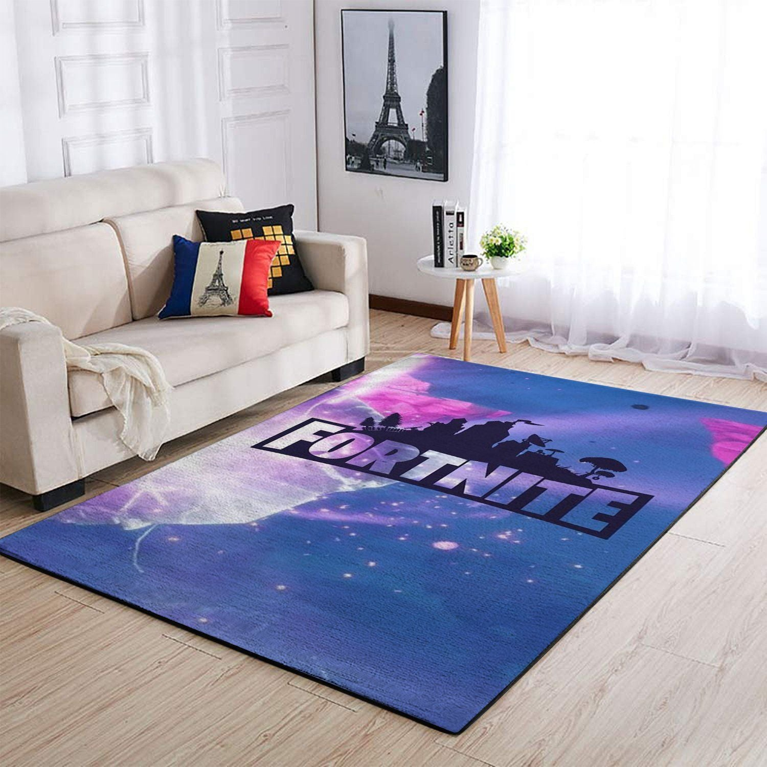 Fortnite Area Rug Video Game Carpet, Gamer Living Room Rugs, Floor Decor 1909261
