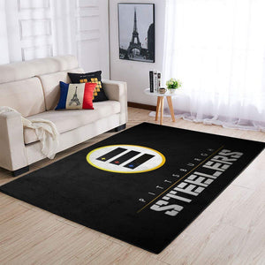 Pittsburgh Steelers Area Rug, NFL Football Team Logo Carpet, Living Room Rugs Floor Decor 191007