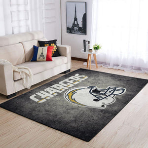 Los Angeles Chargers Area Rug, NFL Football Team Logo Carpet, Living Room Rugs Floor Decor