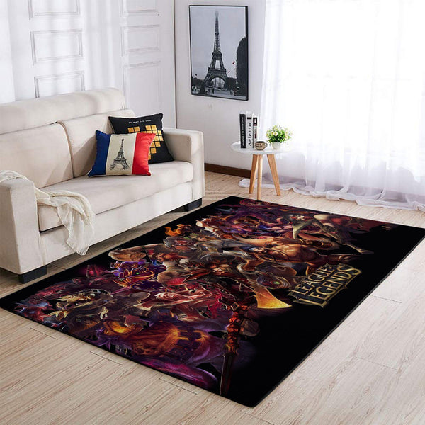 League Of Legends  Characters Area Rug, Gaming Carpet, Gamer Living Room Rugs, Floor Decor 19091608