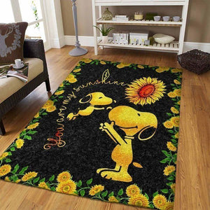 Snoopy Area Rugs, Disney Movie Living Room Carpet, Custom Floor Decor 02117