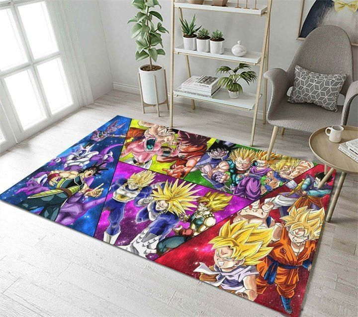 Dragon Ball Area Rugs, Anime, Manga Living Room Carpet, Custom Floor Decor D30102