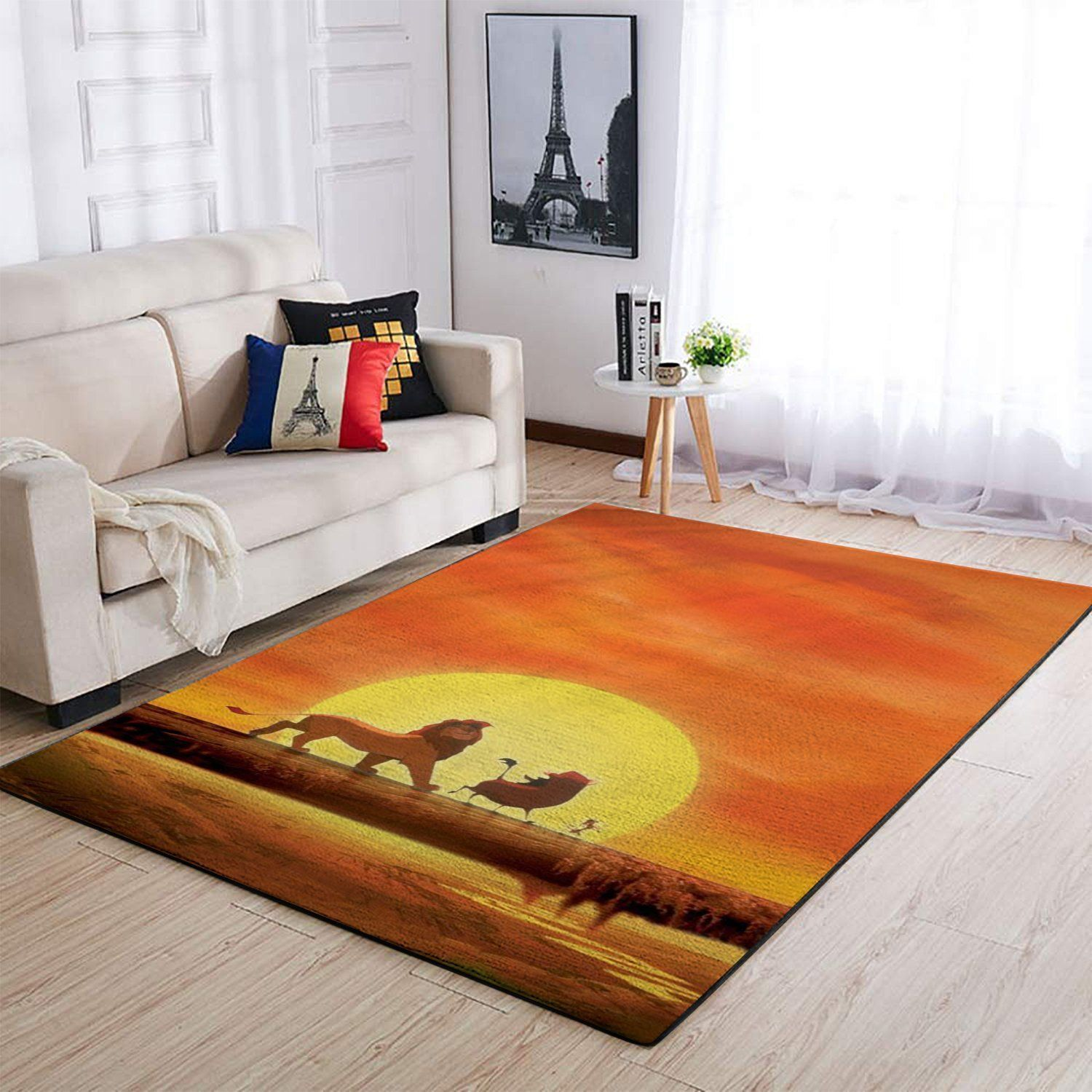 The Lion King Area Rugs, Disney Movie Living Room Carpet, Custom Floor Decor 1