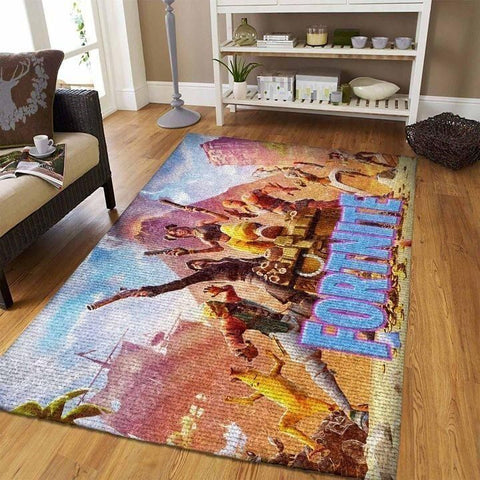 Fortnite Area Rug Video Game Carpet, Gamer Living Room Rugs, Floor Decor 19091101