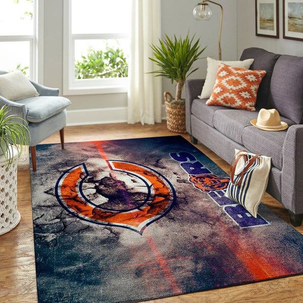 Chicago Bears Area Rug, NFL Football Team Logo Carpet, Living Room Rugs Floor Decor CB02