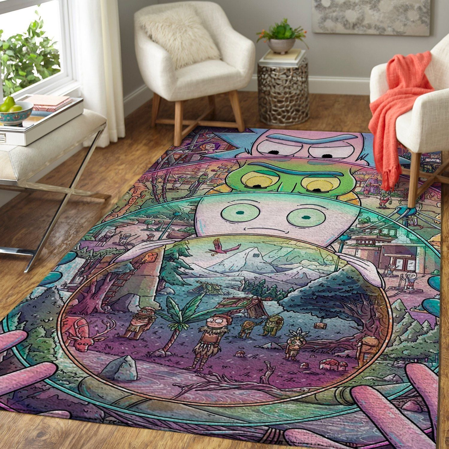 Rick & Morty Area Rugs / Movie Living Room Carpet, Custom Floor Decor 4
