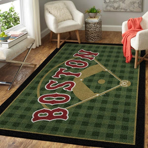 Boston Red Sox Area Rug, MLB Baseball Team Logo Carpet, Living Room Rugs Floor Decor 200327