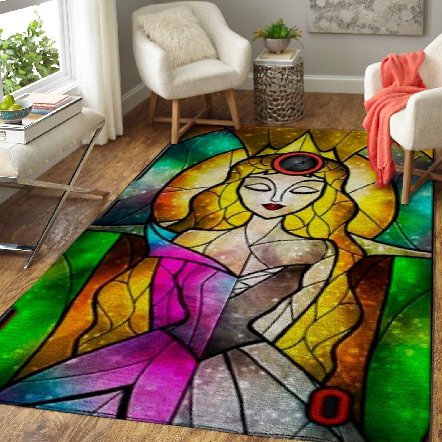 Disney Princess Area Rugs Disney Cartoons Carpet Living Room Carpet, Custom Floor Decor 2