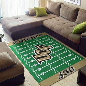 UCF Knights Home Field Area Rug, Football Team Logo Carpet, Living Room Rugs Floor Decor F102110