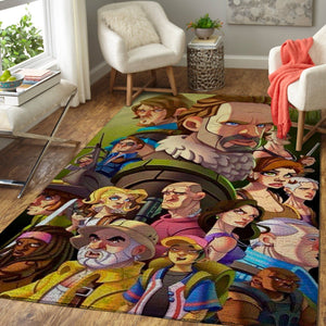 The Waking Dead Area Rugs / Movie Living Room Carpet, Custom Floor Decor