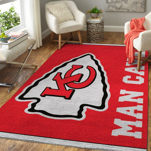 Kansas City Chiefs Area Rugs / NFL Football Living Room Carpet Team Logo Custom Floor Home Decor 1910294