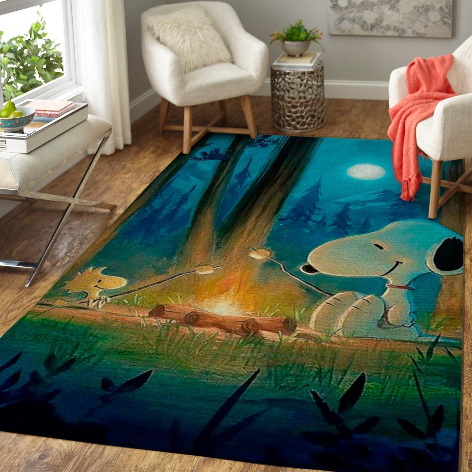 Snoopy Area Rugs, Disney Movie Living Room Carpet, Custom Floor Decor 1910218