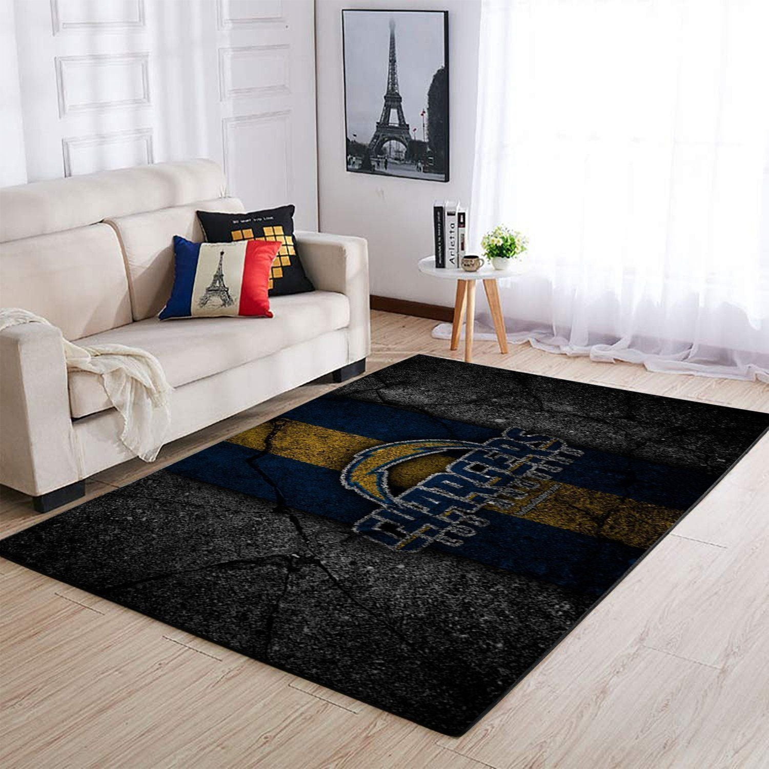 Los Angeles Chargers Area Rugs NFL Football Living Room Carpet Team Logo Custom Floor Home Decor 1910071