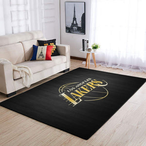 Los Angeles Lakers Area Rug, NBA Basketball Team Logo Carpet, Living Room Rugs Floor Decor 1912262