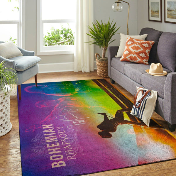 Freddie Mercury - Bohemian Rhapsody Area Rugs - Movie Living Room Carpet, Custom Floor Decor