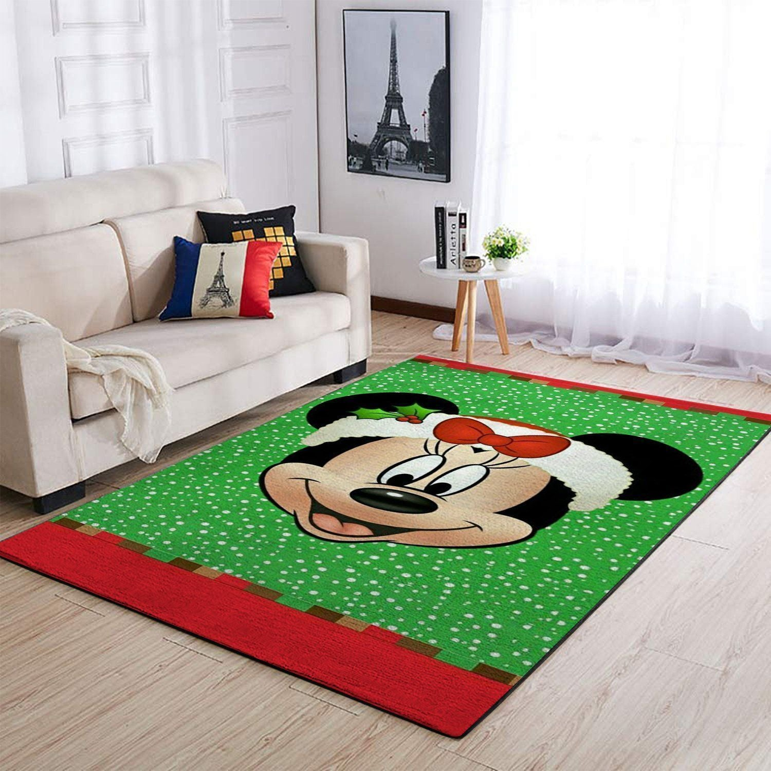 Mickey Mouse Area Rugs / Christmas Disney Movie Living Room Carpet, Custom Floor Decor 1909278
