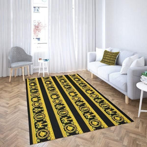 Versace Pattern Area Rug Hypebeast Carpet, Luxurious Fashion Brand Logo Living Room  Rugs, Floor Decor 071142