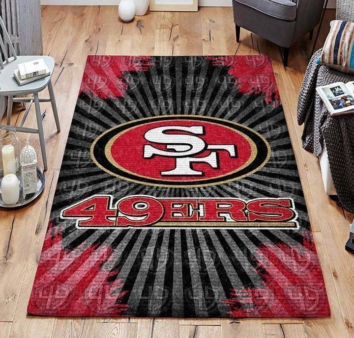 San Francisco 49ers Area Rug, NFL Football Team Logo Carpet, Living Room Rugs Floor Decor 03116