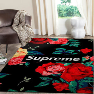 Supreme Area Rug Hypebeast Carpet, Luxurious Fashion Brand Logo Living Room  Rugs, Floor Decor 081128