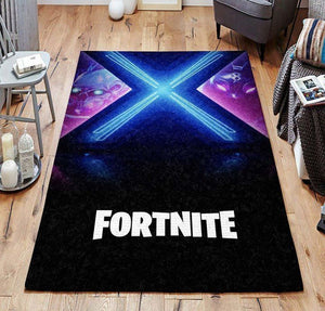 Fortnite Area Rug Video Game Carpet, Gamer Living Room Rugs, Floor Decor FN07