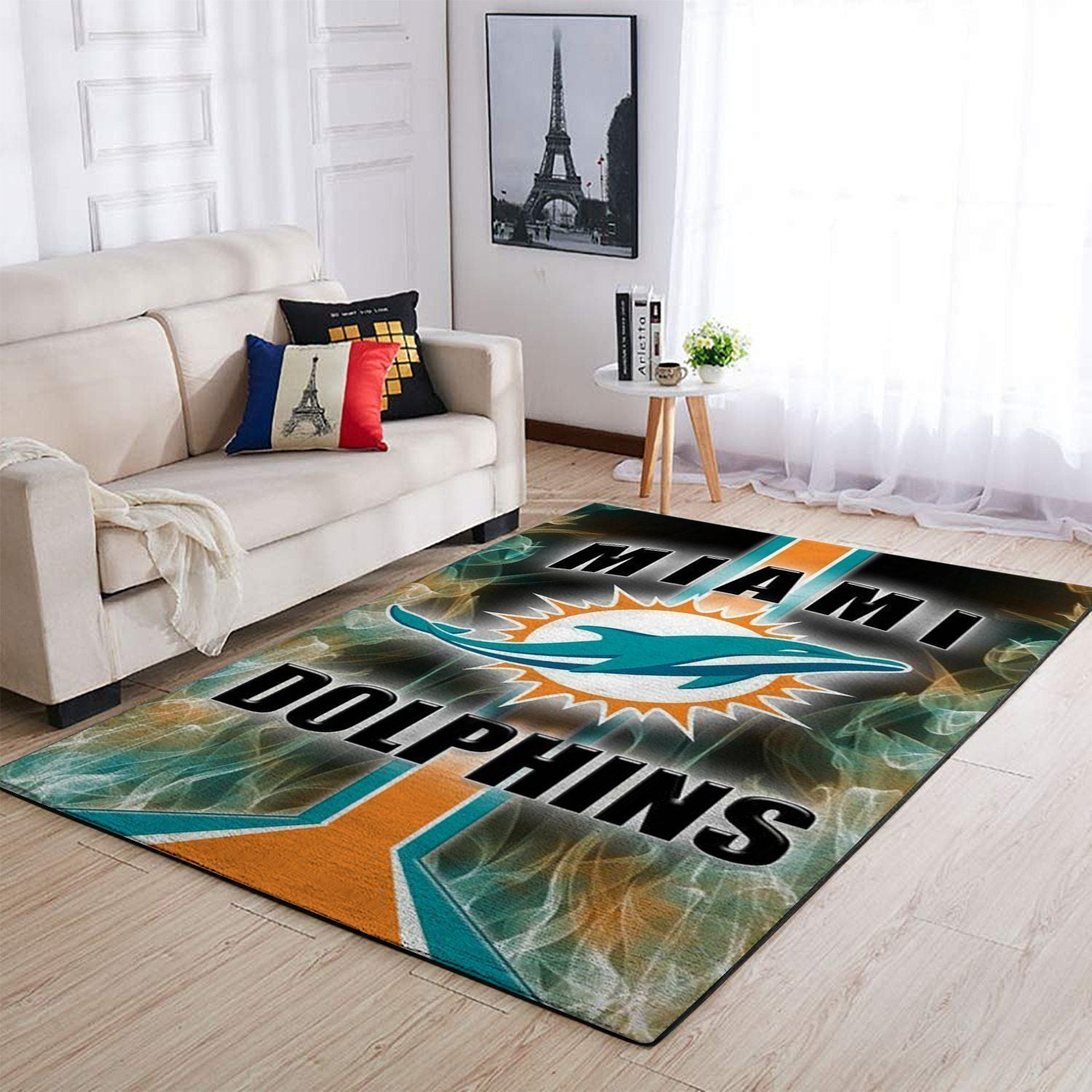 Miami Dolphins Area Rugs NFL Football Living Room Carpet Team Logo Custom Floor Home Decor 1910072
