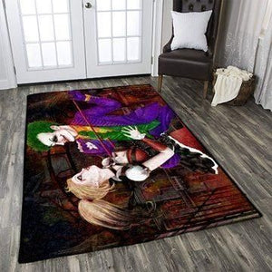 Joker & Harley Quinn Area Rugs / Movie Living Room Carpet, Custom Floor Decor 1911011