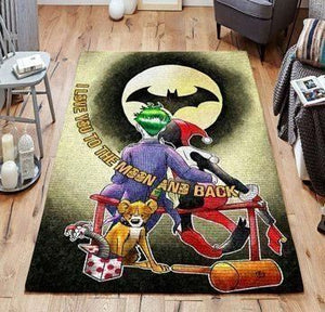 Joker & Harley Quinn Area Rugs / Movie Living Room Carpet, Custom Floor Decor
