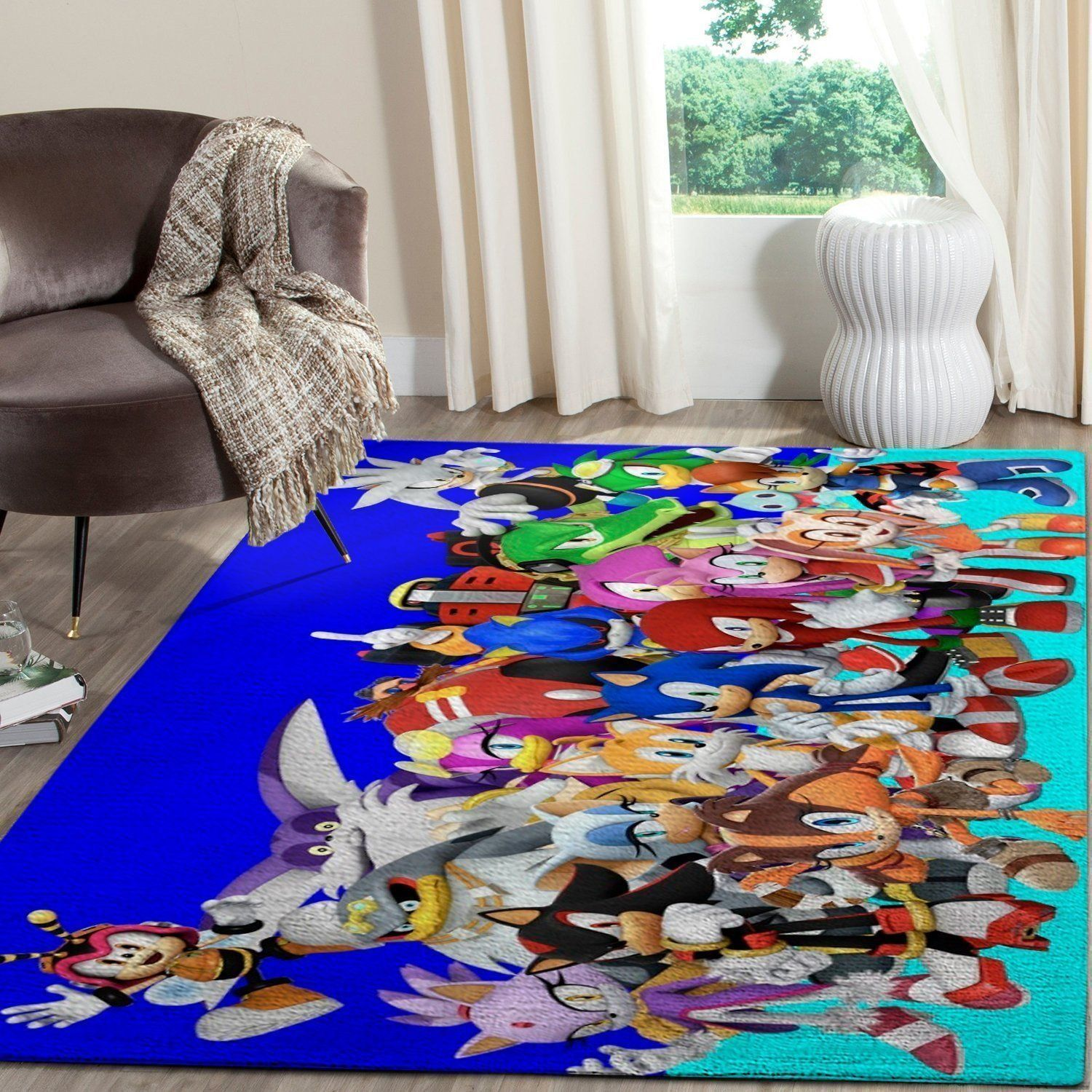 Sonic the Hedgehog Area Rug / Gaming Carpet, Gamer Living Room Rugs, Floor Decor 101120