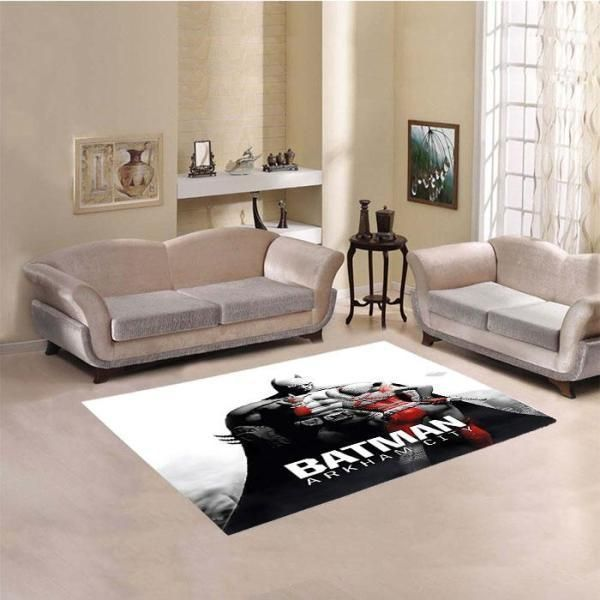Batman Area Rugs, Superhero Movie Living Room Carpet, Custom Floor Decor 101110