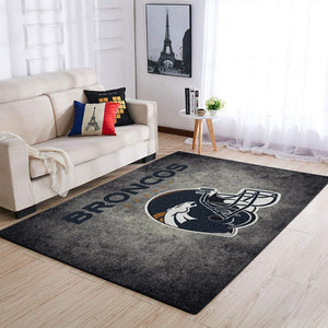 Denver Broncos Area Rugs NFL Football Living Room Carpet Team Logo Custom Floor Home Decor