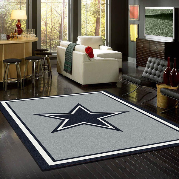 Dallas Cowboys Spirit Area Rugs NFL Football Living Room Carpet Team Logo Custom Floor Home Decor