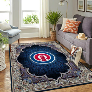 Chicago Cubs Area Rug, MLB Baseball Team Logo Carpet, Living Room Rugs Floor Decor 200327