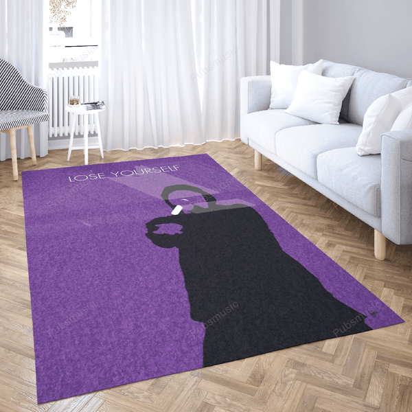No041 MY EMINEM Minimal Music Artwork, Lose Yourself, B- ...  - Minimal Music Artworks Art For Fans Area Rug Living Room Carpet Floor Decor